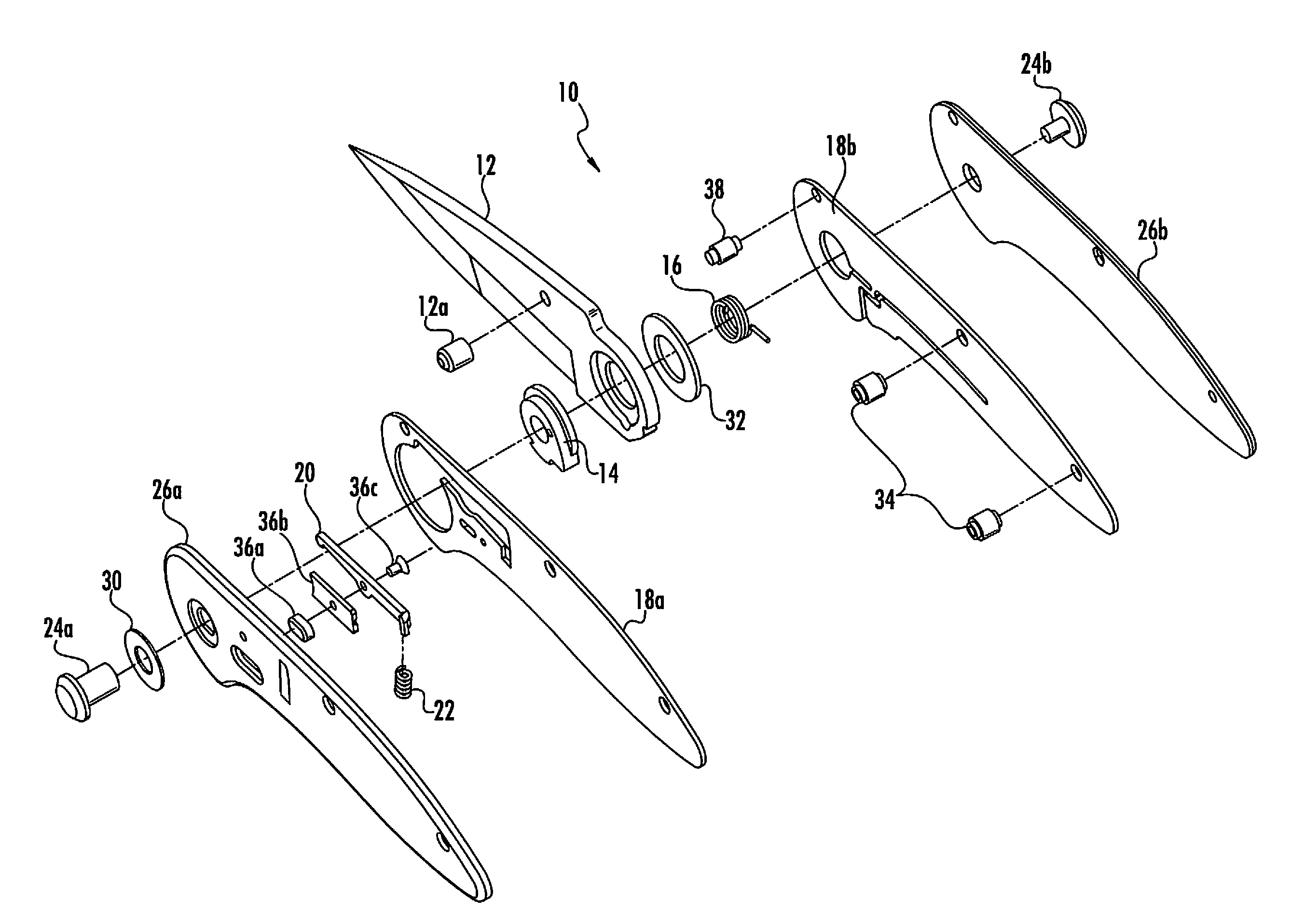 parts of a pocket knife diagram 72 chevelle wiring patent us8499460 spring assisted having separate