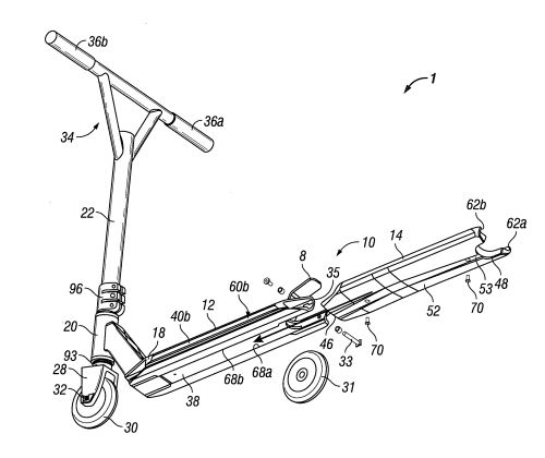 small resolution of patent us8613457 scooter assemblies and scooter deck assemblies gy6 150cc scooter vacuum diagram scooter deck diagram