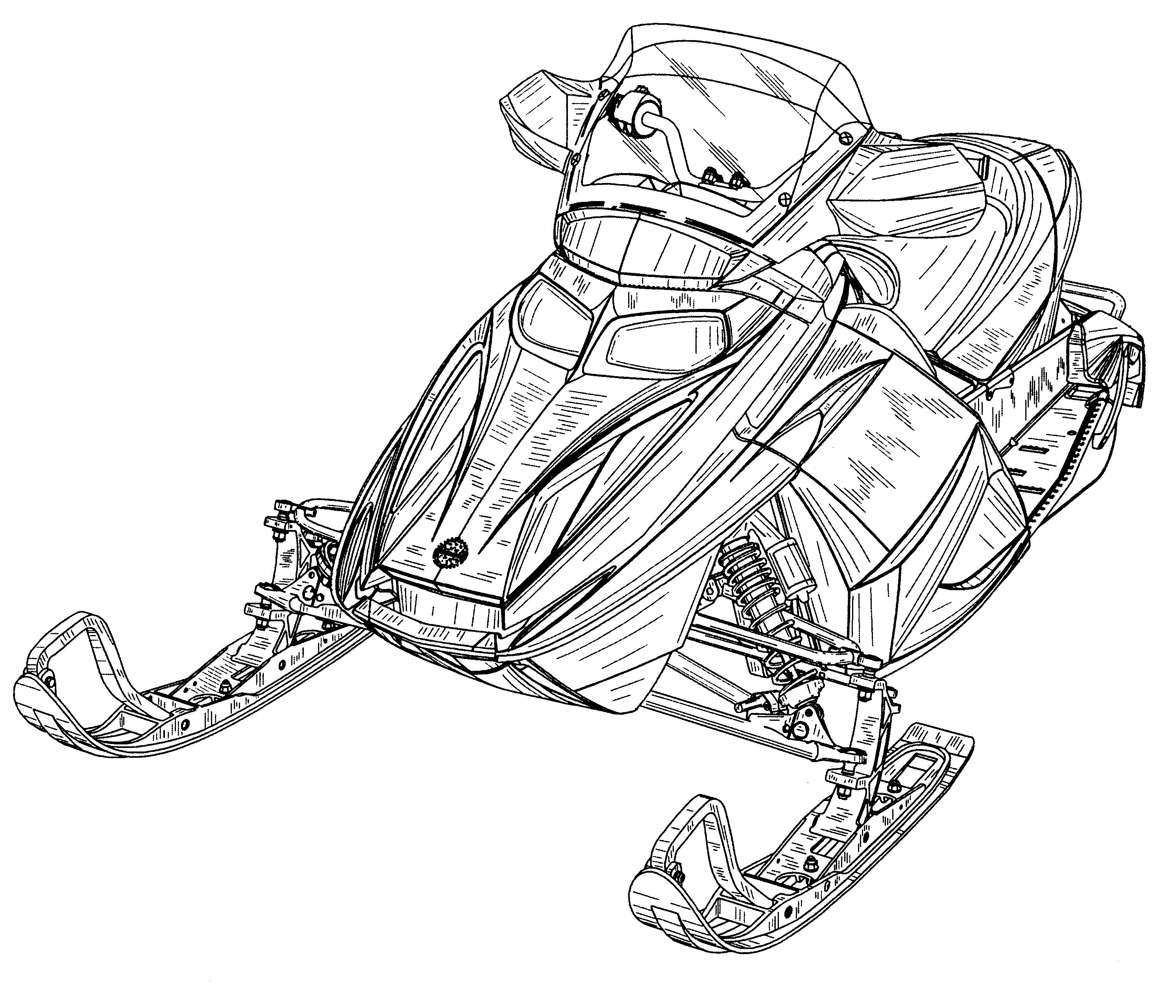 snowmobile drawings Gallery