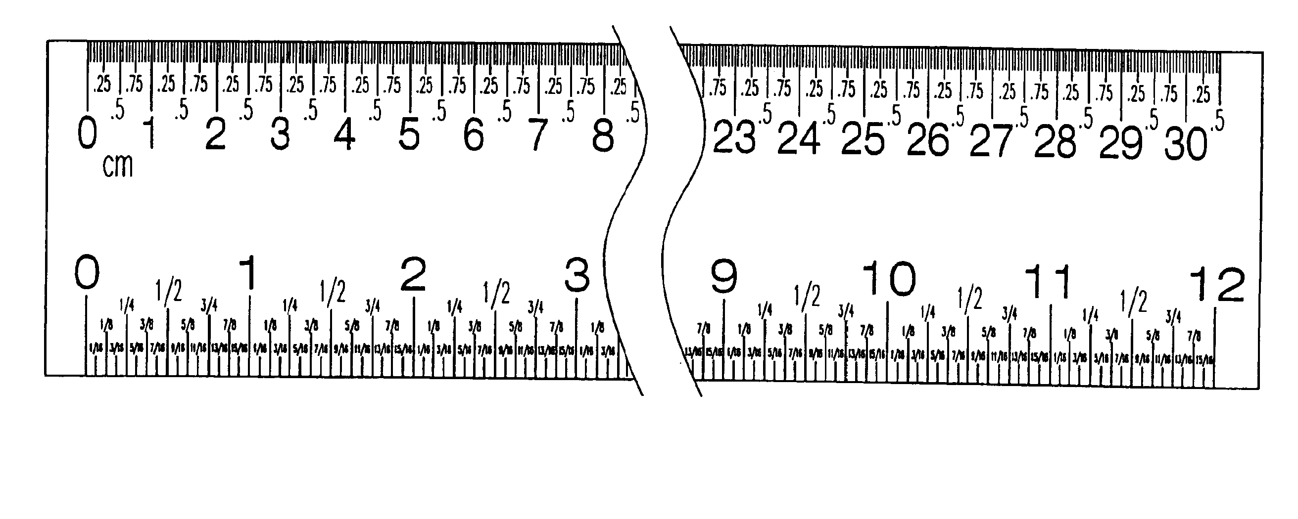 Reading Ruler Worksheet Metric