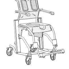 Chair Design Patent Metal Folding Chairs India Usd606909 Wheelchair For Bath And Hygiene