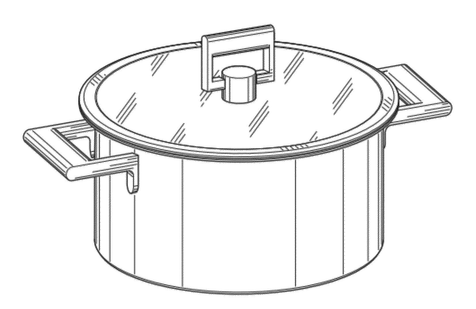 Cooking Pan Drawing Sketch Coloring Page