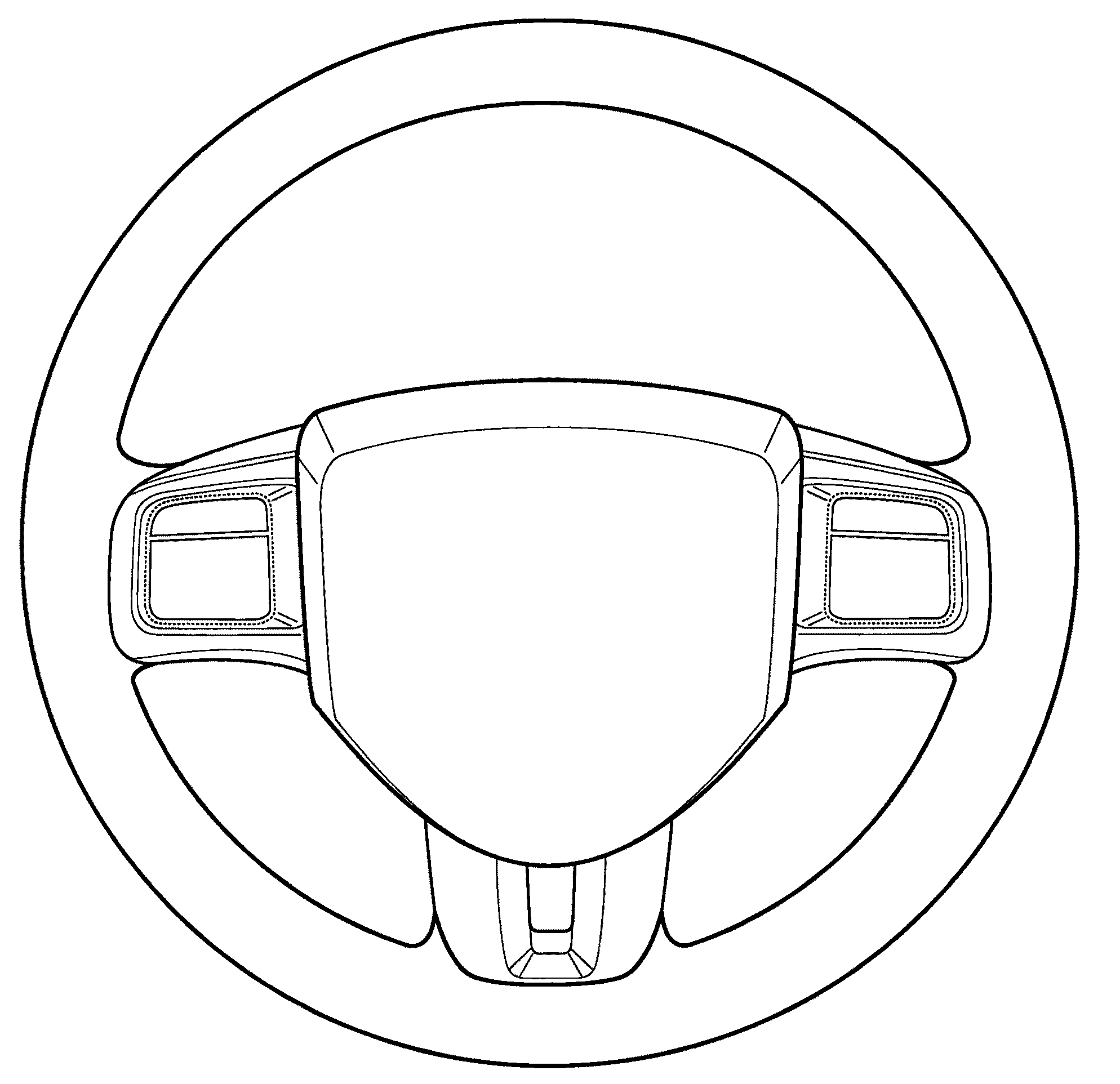 Car Steering Wheel Coloring Page Sketch Coloring Page