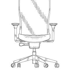 Office Chair Dwg Wooden Garden Chairs Uk Patent Usd688056 Google Patents