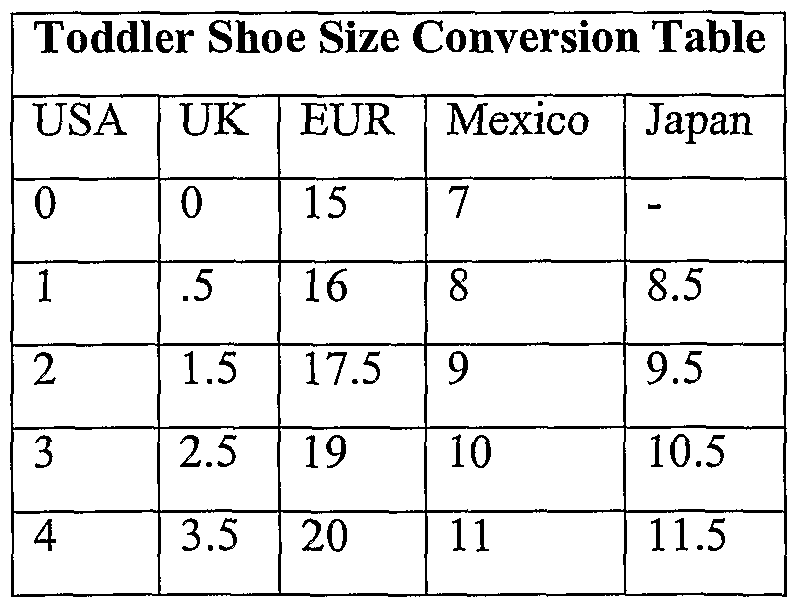 Mexico To Us Shoe Size Kids.Childrens Shoe Size 19 Mexico Us All About Shoes