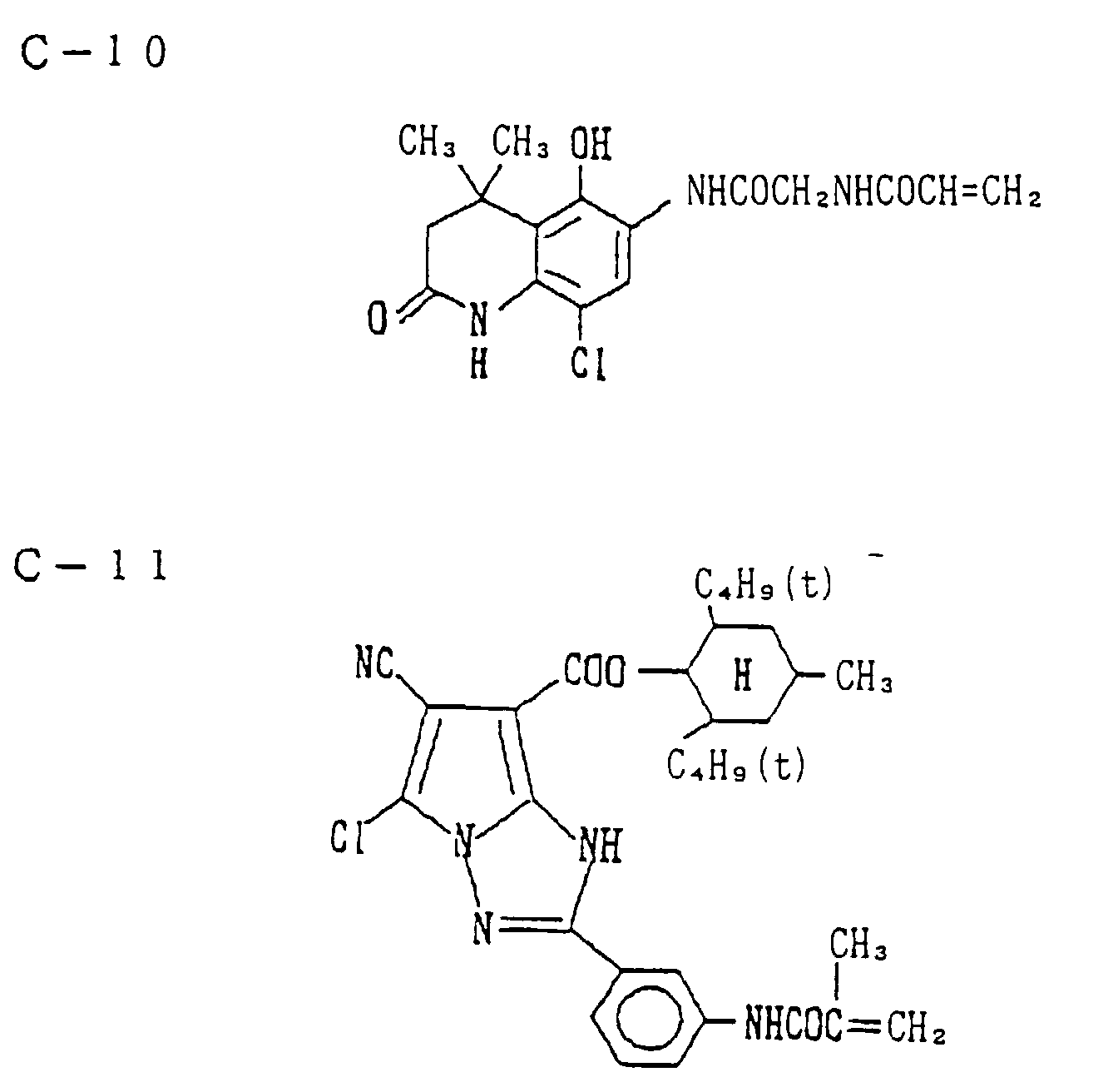 hight resolution of examples of the non color forming monomer i e the monomer that does not undergo a coupling reaction with an oxidation product of a color developing agent