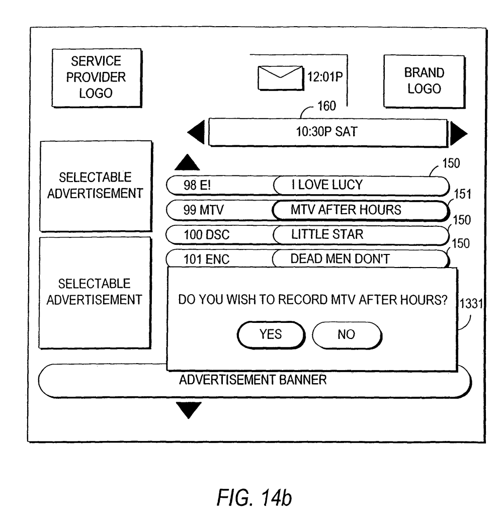 medium resolution of us7802285b2 client server based interactive television program guide with server recording google patents