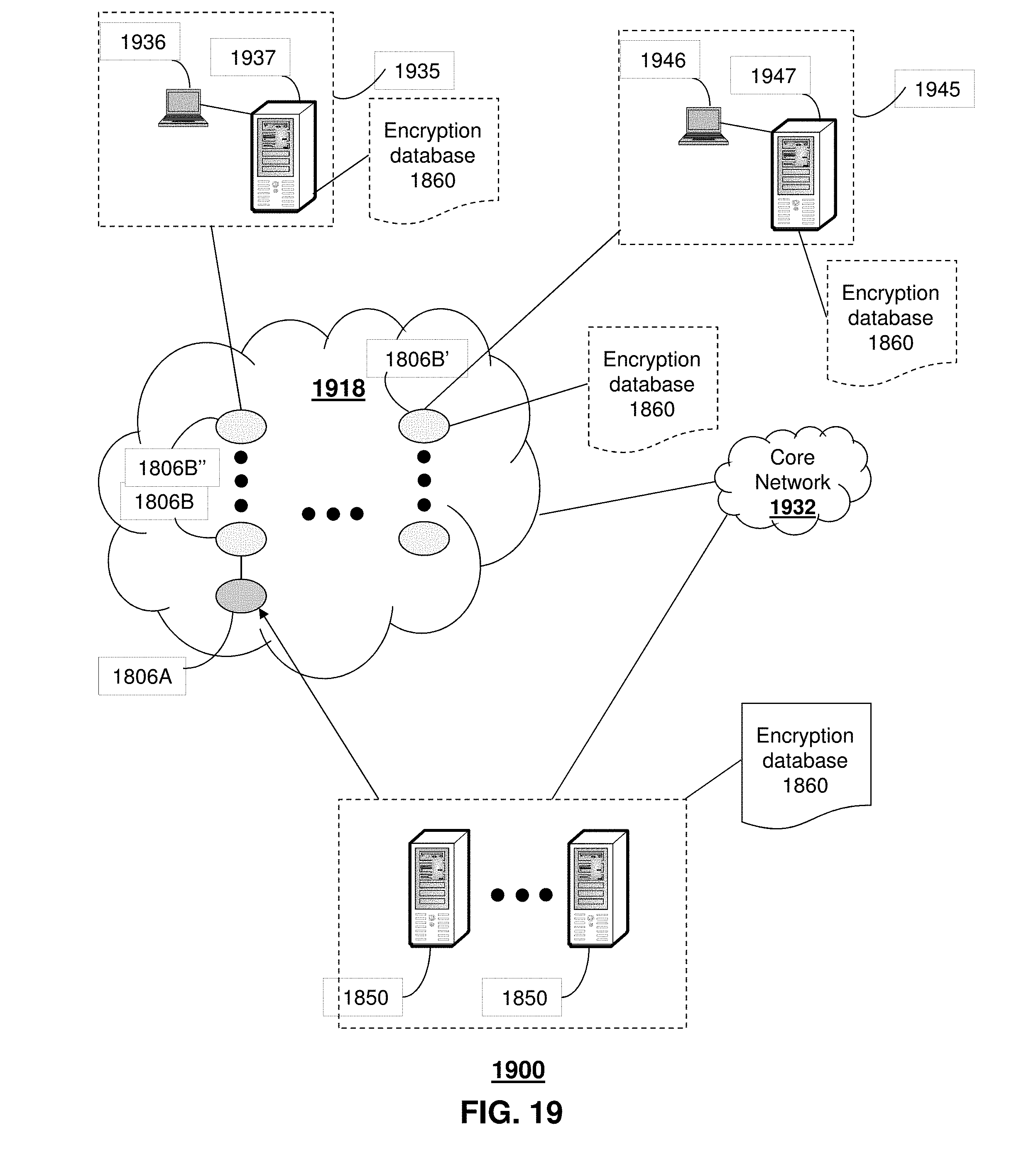 Us9769128b2 method and apparatus for encryption of munications over a work patents