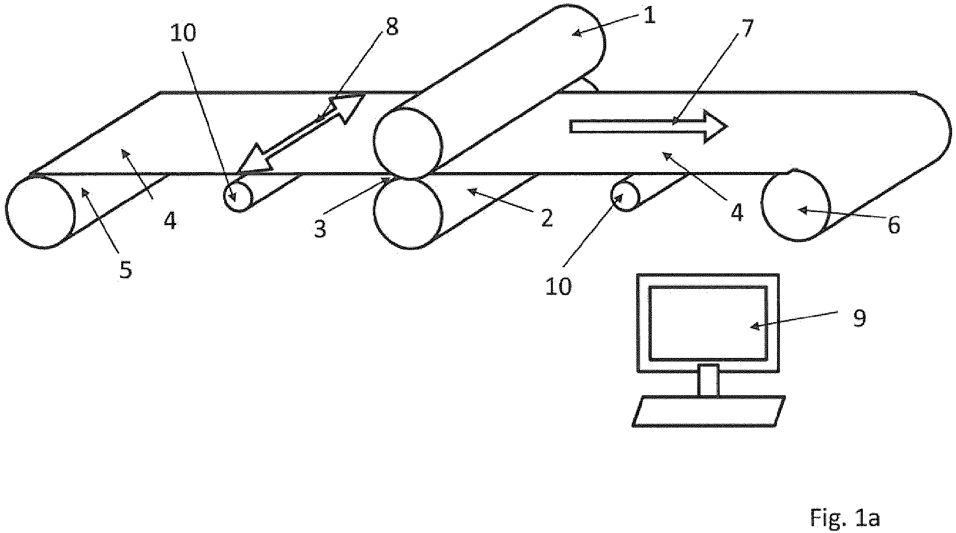 hight resolution of  applied strip tension is specifically controlled so that the from the work rolls 1 2 on the metal strip 4 applied rolling force during the rolling