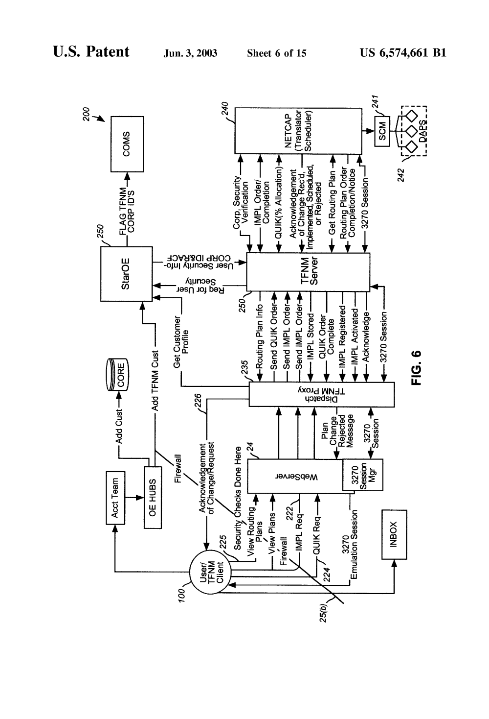 medium resolution of us6574661b1 integrated proxy interface for web based telecommunication toll free network management using a network manager for downloading a call routing