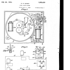 Fire Alarm Schematic Diagram Wiring For Solar Battery Charger Patent Us1503439 System Google Patents