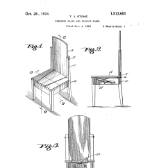 Chair Step Stool Ironing Board Mismatched Dining Chairs Patent Us1513651 Combined And