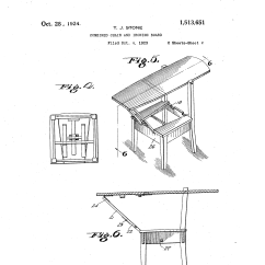 Chair Step Stool Ironing Board Used Wheel Patent Us1513651 Combined And