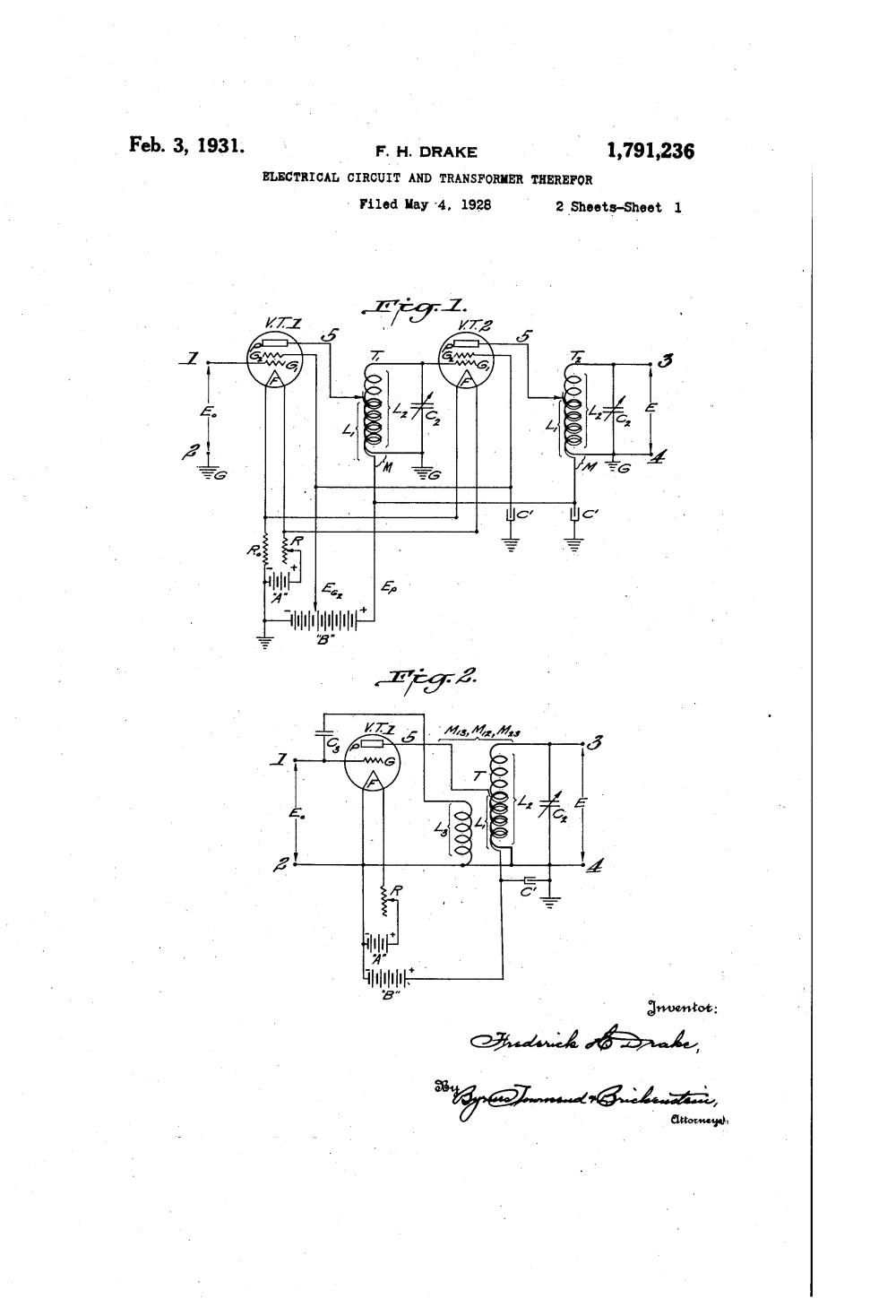 medium resolution of brevet us1791236 electrical circuit and transformer therefor google brevets