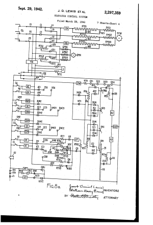 Patent US2297359  Elevator control system  Google Patents