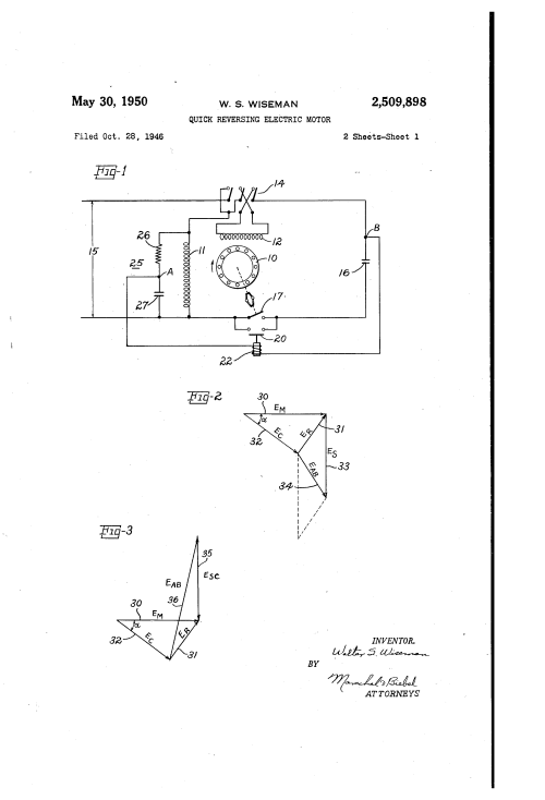 small resolution of  us2509898 0 patent us2509898 quick reversing electric motor google patents fog machine wiring diagram at cita