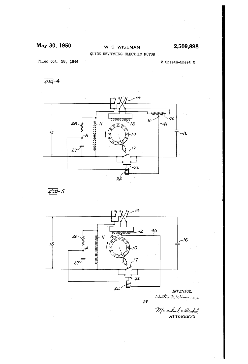 medium resolution of  us2509898 1 patent us2509898 quick reversing electric motor google patents 5 hp electric motor single phase