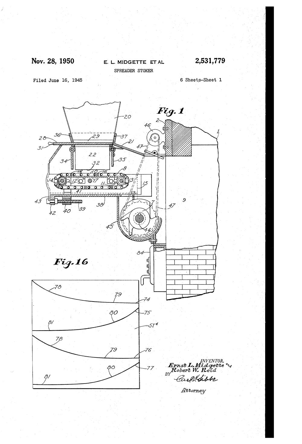 medium resolution of  patent us2531779 spreader stoker google patents on