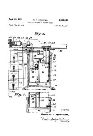 Patent US2653648  Electrichydraulic beauty chair