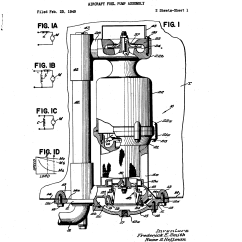 Fuel Pump Aircraft Satellite Dish Wiring Diagram Patent Us2699907 Assembly Google