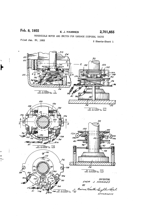 small resolution of brevet us2701855 reversible motor and switch for garbage disposal units google brevets