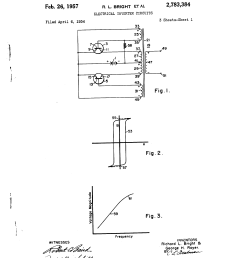 2783384 electrical inverter circuits richard l bright george h royer westinghouse electric  [ 2320 x 3408 Pixel ]