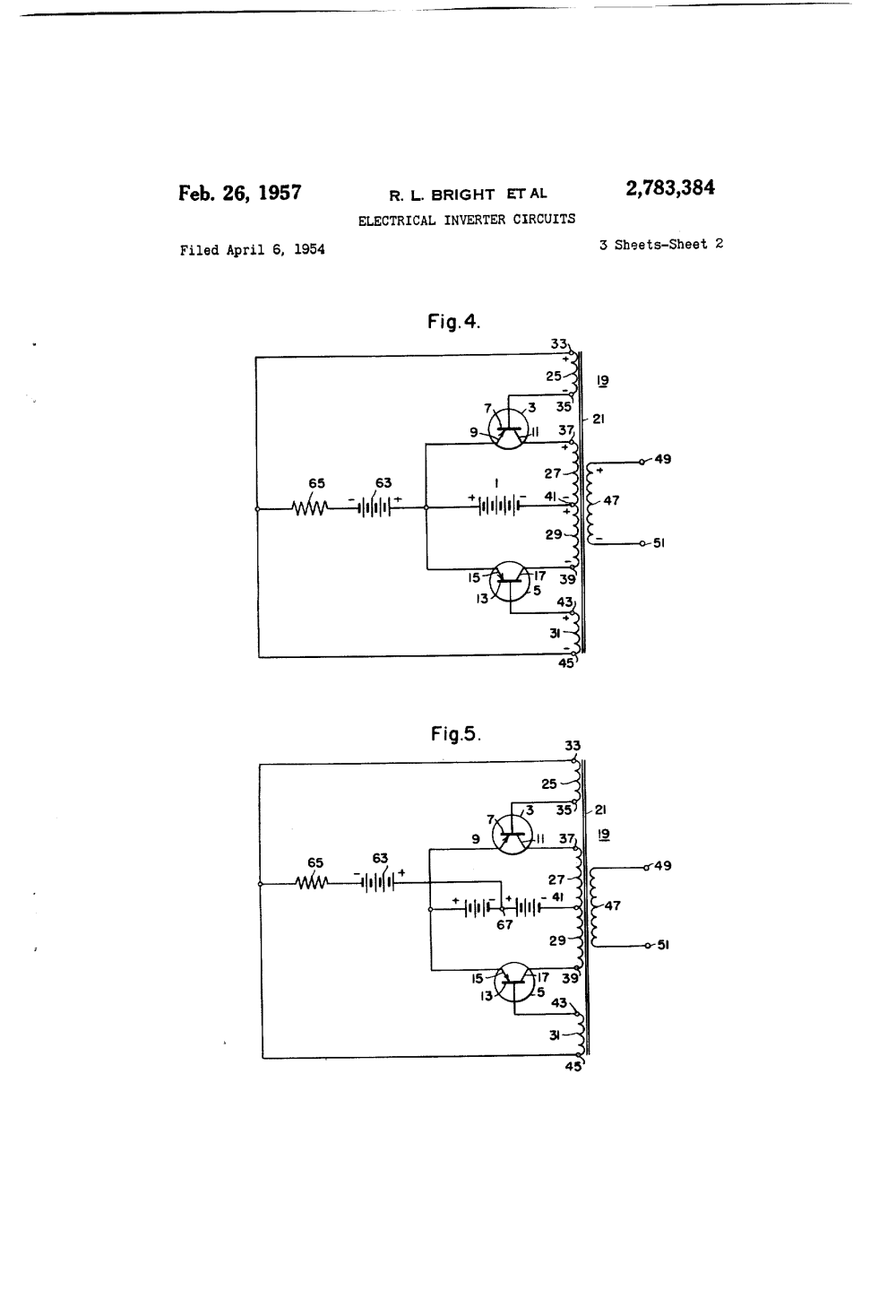 medium resolution of  2783384 electrical inverter circuits richard l bright george h royer westinghouse electric