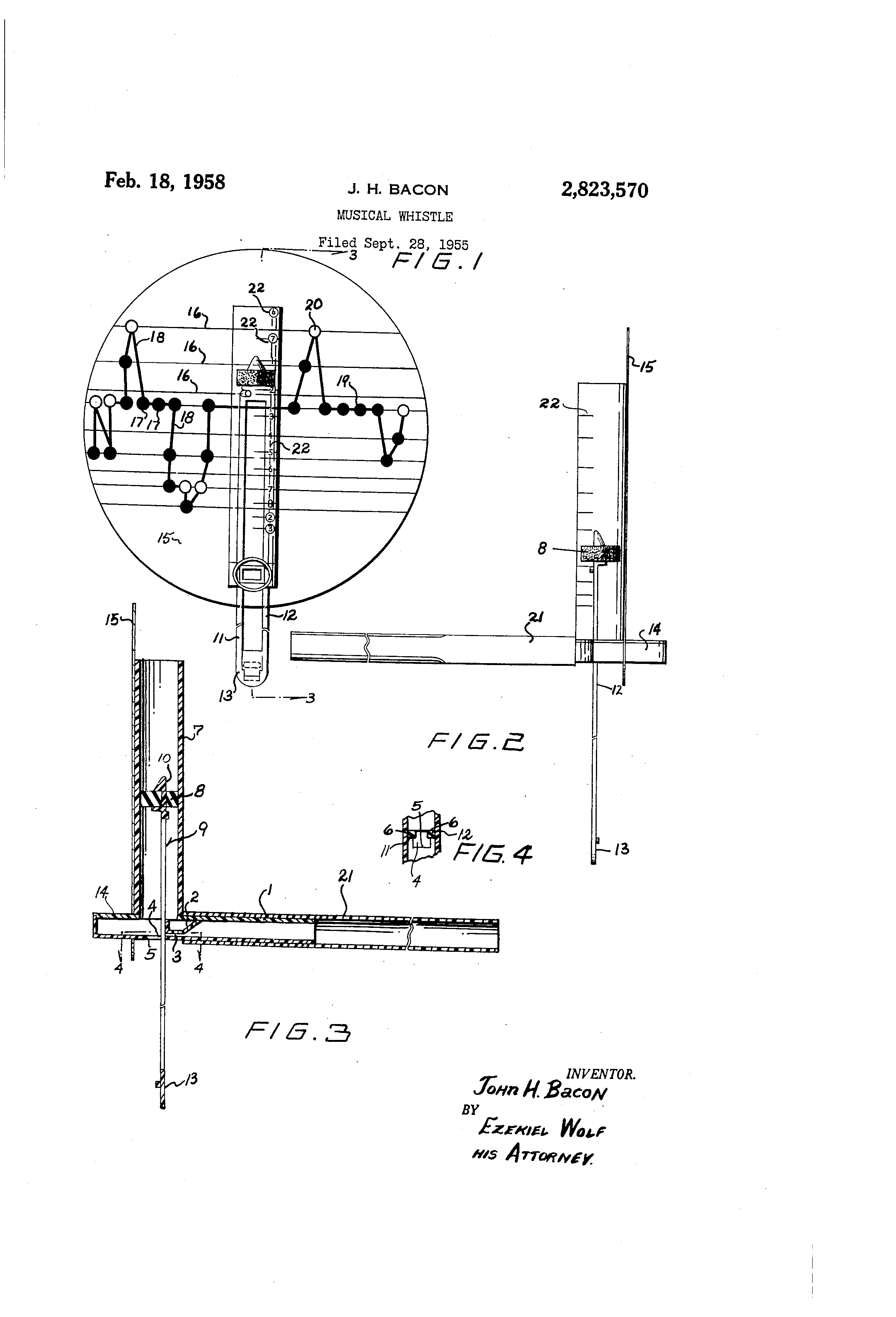 how to wolf whistle diagram volkswagen 2 0 engine patent us2823570 musical google patents drawing