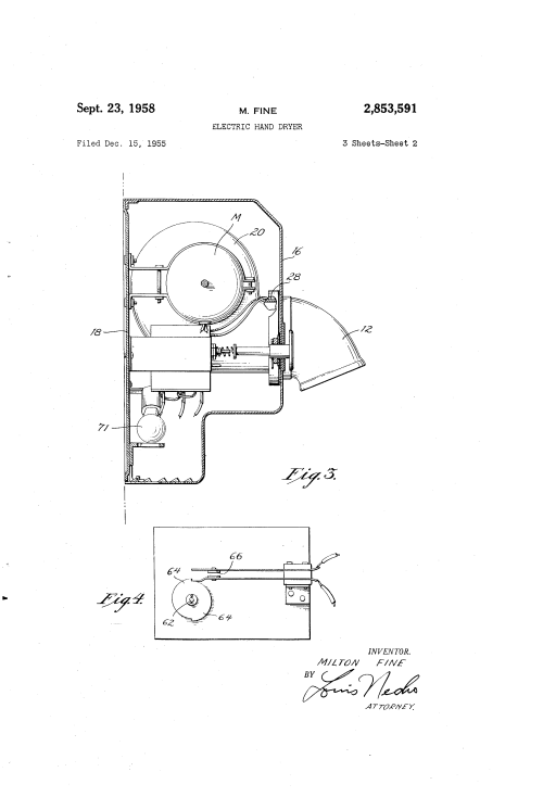 small resolution of us2853591 1 patent us2853591 electric hand dryer google patents mondeo mk3 glove box