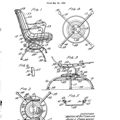 Swivel Chair Inventor White Garden Table And Chairs Set Patent Us2916084 Google Patents