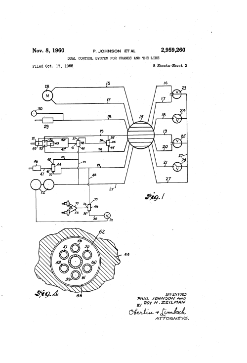 small resolution of  us2959260 1 patent us2959260 dual control system for cranes and the like ze 208s wiring diagram