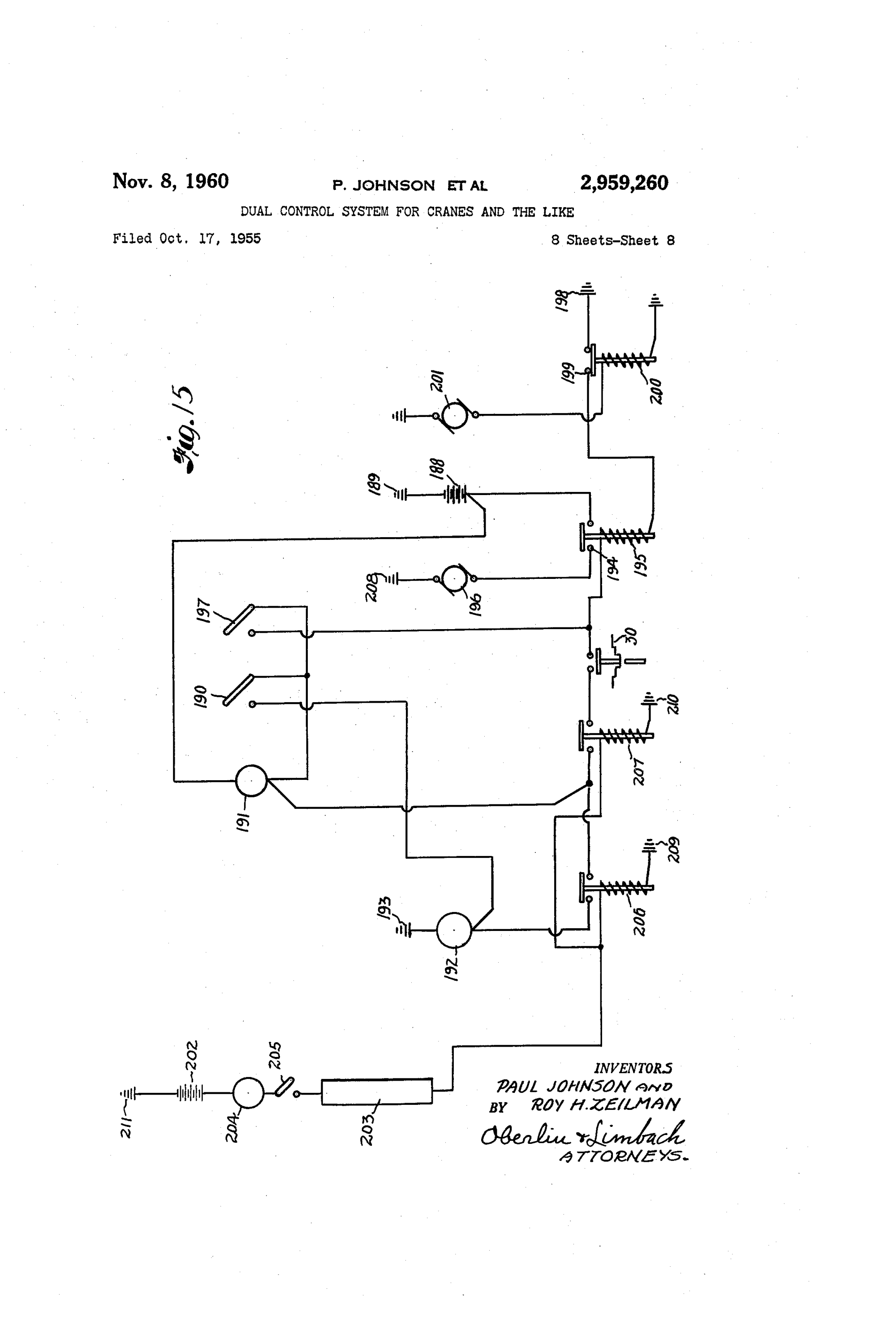 hight resolution of us2959260 7 patent us2959260 dual control system for cranes and the like ze 208s wiring diagram