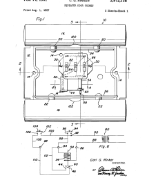 front and rear doorbell wiring diagrams patent drawing [ 2320 x 3408 Pixel ]