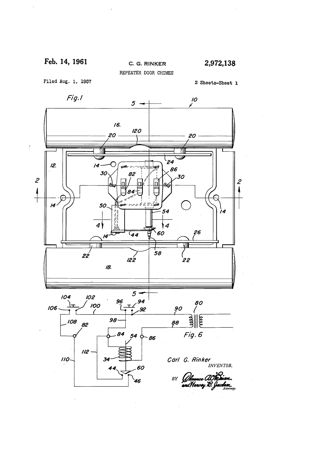 medium resolution of front and rear doorbell wiring diagrams patent drawing