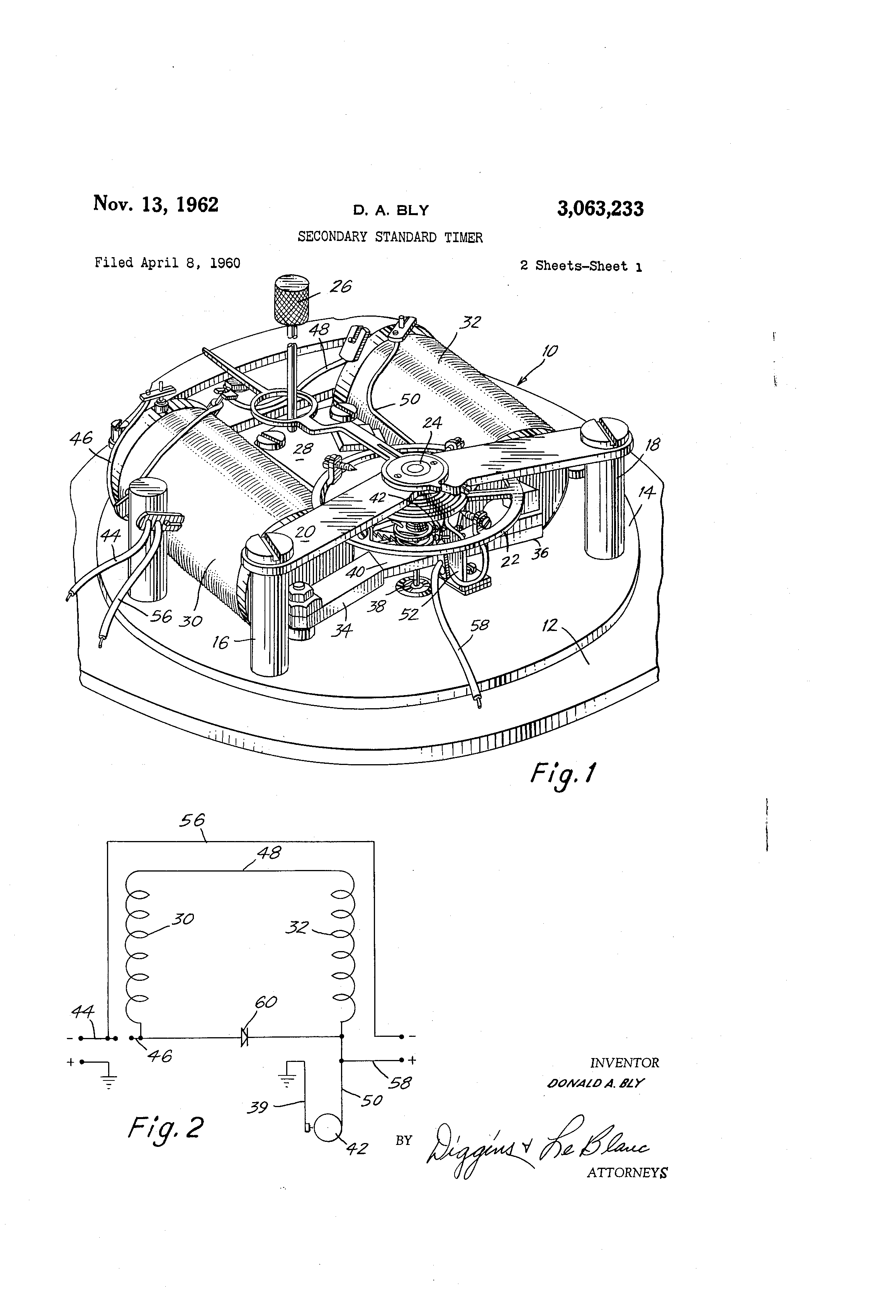 Patent Secondary Standard Timer by Donald A. Bly Issued