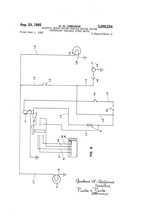 small resolution of patent us3202234 electric motor driven vehicle having driver patent drawing variable sd electric motor wiring diagram