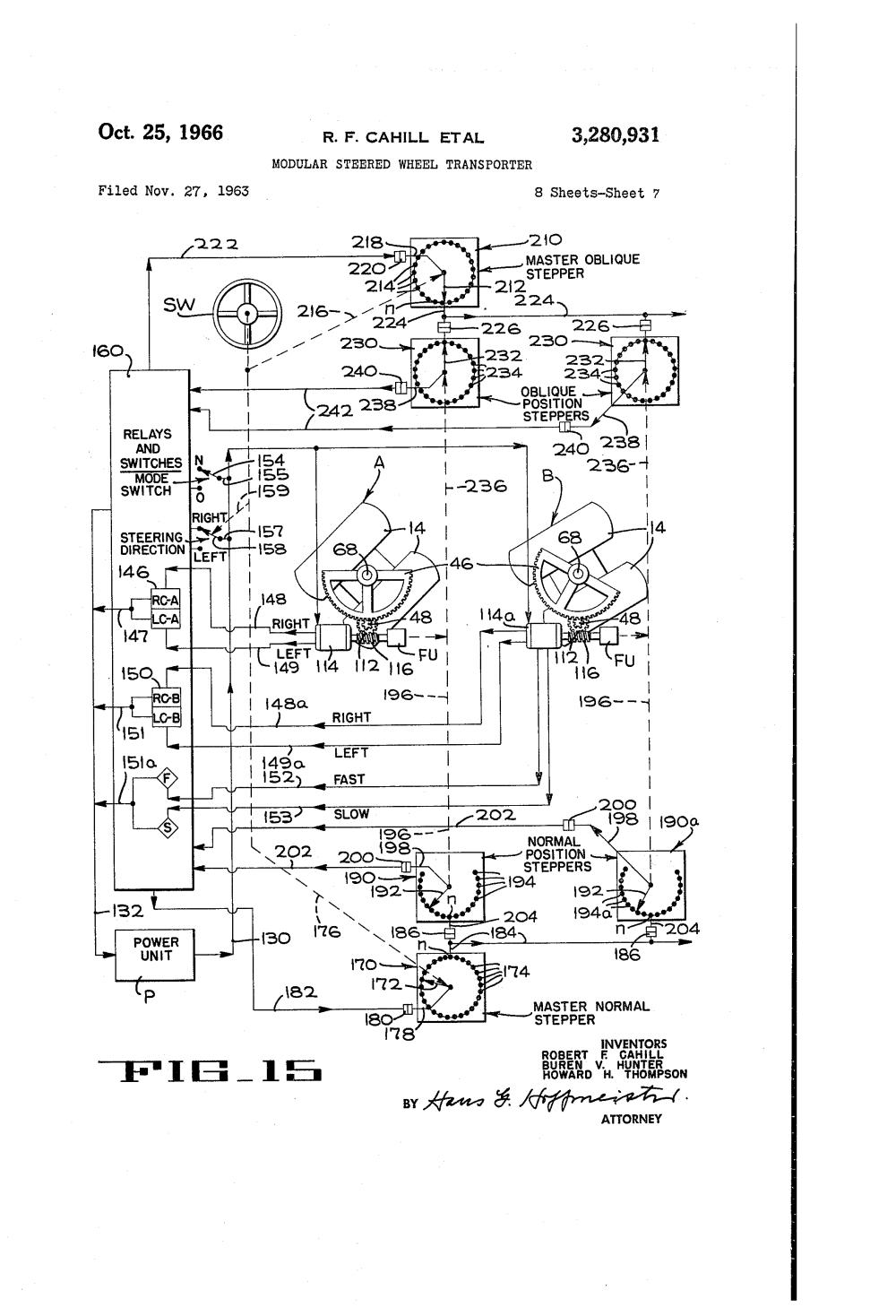 medium resolution of us3280931 6 patent us3280931 modular steered wheel transporter google patents kone crane wiring diagram at cita