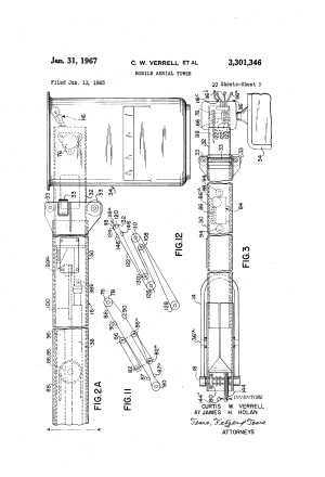 Patent US3301346  Mobile aerial tower  Google Patents