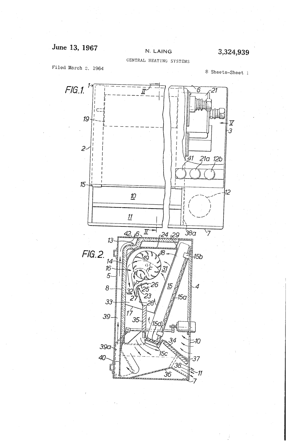 medium resolution of patent us3324939 central heating systems google patents liquid heating google patents on 110 volt baseboard heater wiring