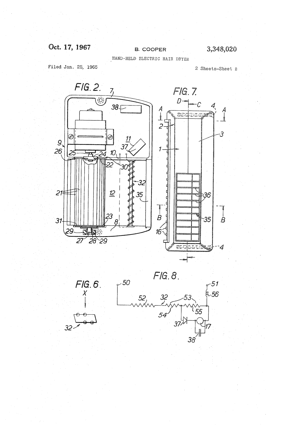 medium resolution of  us3348020 1 patent us3348020 hand held electric hair dryer google patents hair dryer wiring diagram at