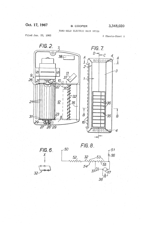 small resolution of  us3348020 1 patent us3348020 hand held electric hair dryer google patents hair dryer wiring diagram at