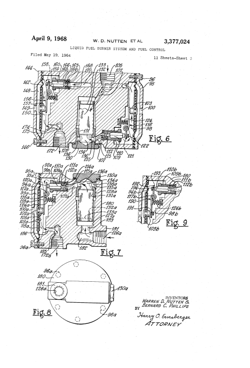 small resolution of view figure 6b same ignition shown in a semischematic diagram patent us3377024 liquid fuel burner system