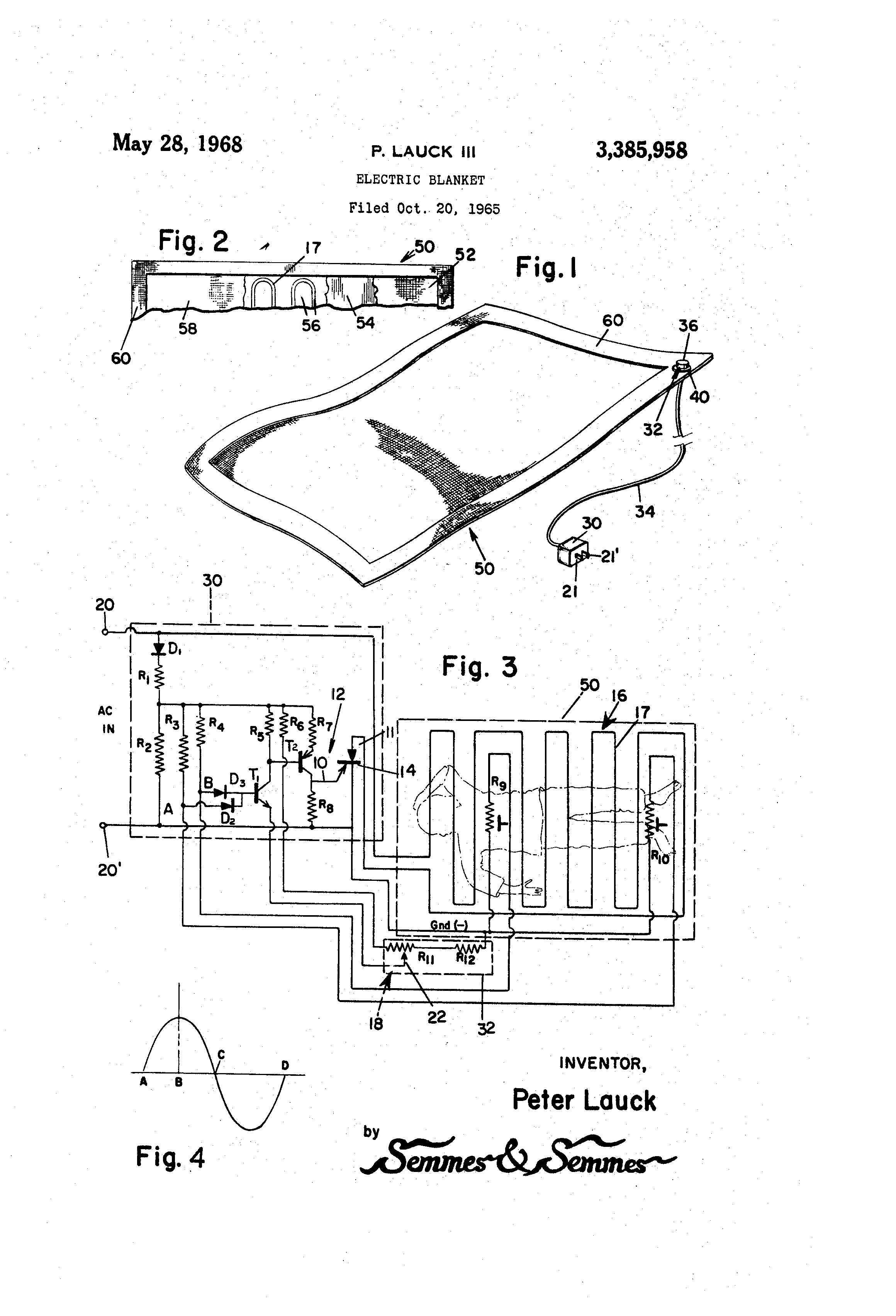 electric blanket wiring diagram human ear and functions patent us3385958 google patents