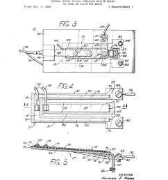 patente us3405380 thermal relay having separate heater means to patent drawing wilder heat oven wiring diagram  [ 2320 x 3408 Pixel ]