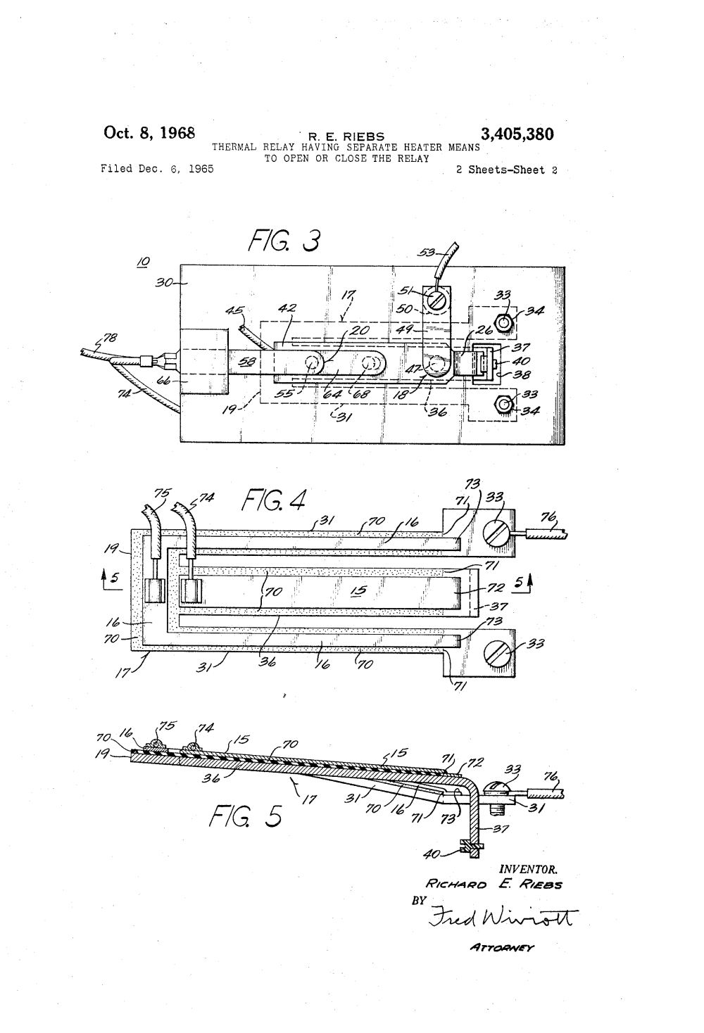 medium resolution of patente us3405380 thermal relay having separate heater means to patent drawing wilder heat oven wiring diagram