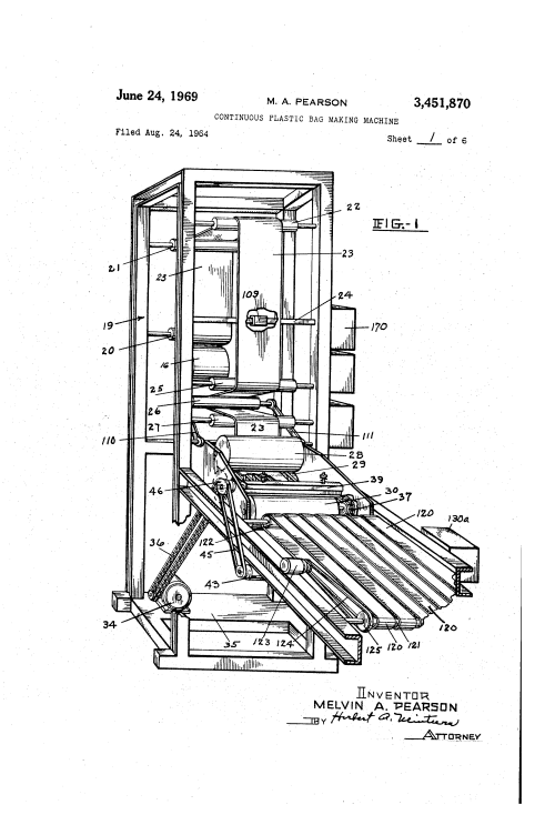 small resolution of brevet us3451870 continuous plastic bag making machine google brevets