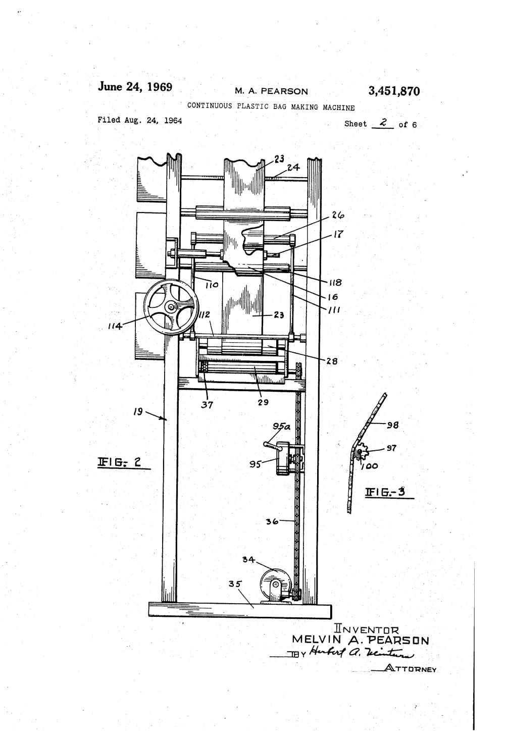 medium resolution of brevet us3451870 continuous plastic bag making machine google brevets