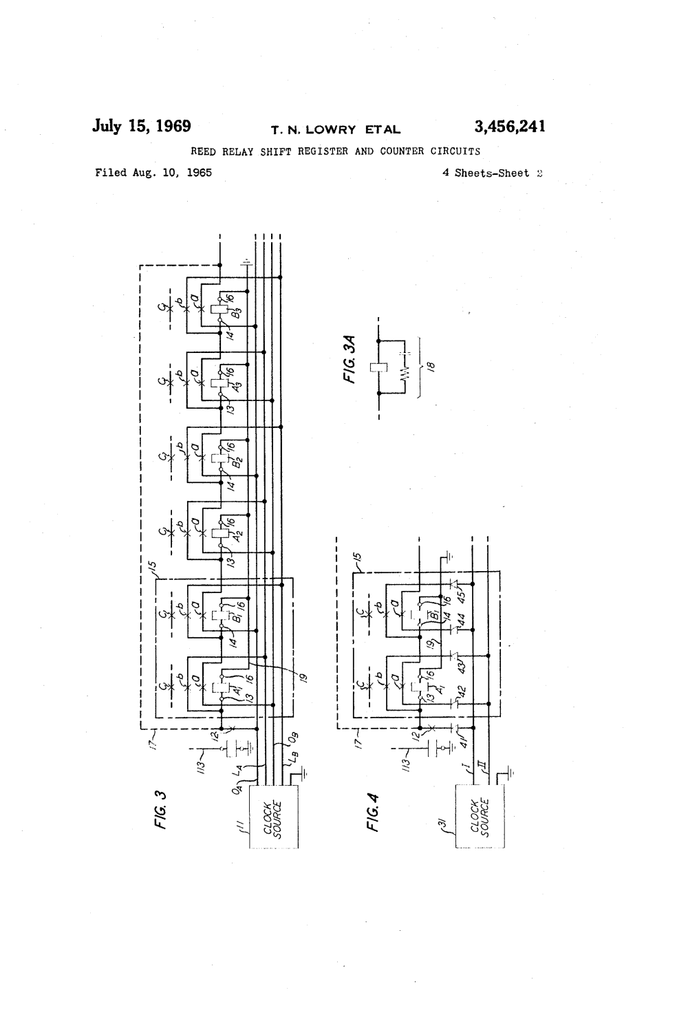 medium resolution of reed relay wiring diagram circuit diagrams patent us3456241 shift register and counter spdt micro 5 pin