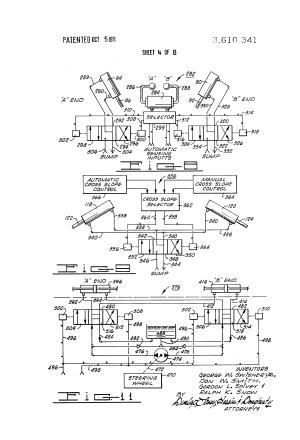 Patent US3610341  Motrader control system  Google Patents