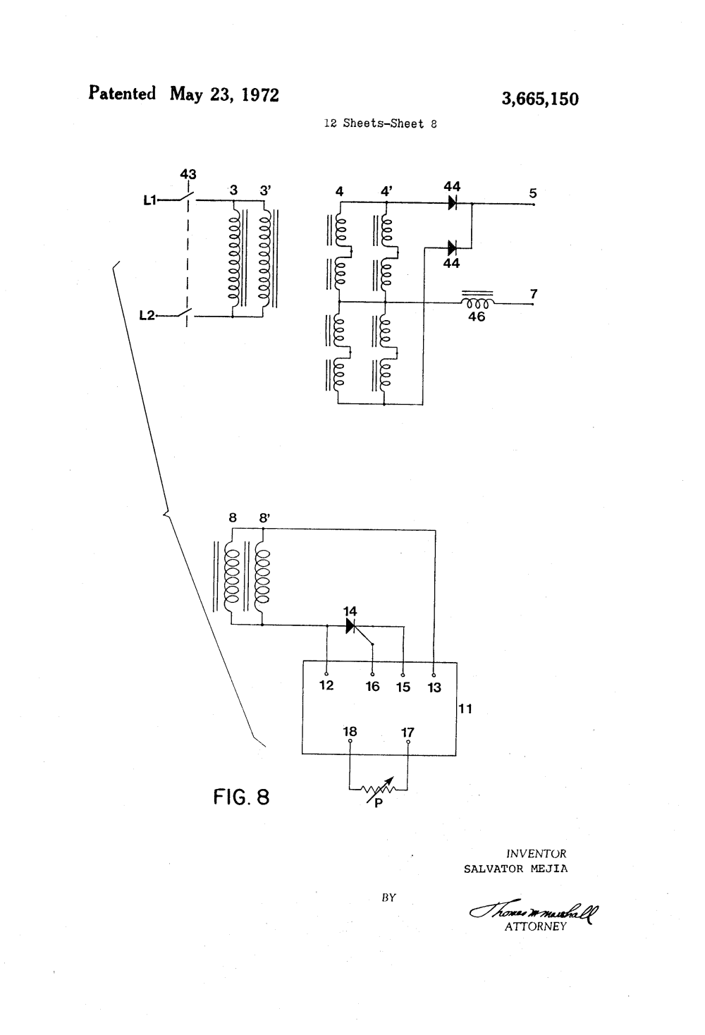 medium resolution of patent us3665150 electrical welding machine having amperage